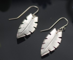 Sterling Feather Earrings