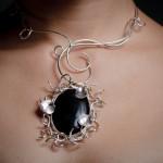 black onyx nest pendant macro